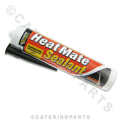 Black High Temperature Heat Resistant Silicone Sealant 300 Degrees C Oven / Fire