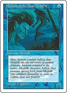 Merfolk of the Pearl Trident EX/NM 4th Edition MTG Magic Cards Blue