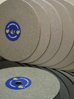 "6"" inch Grit 1200 Diamond coated Flat Lap wheel Lapidary grinding polishing disc"