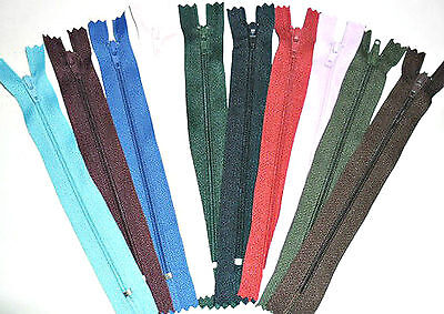 """Zips 6"""" 15Cm Closed End Auto Lock, X6, Various Colours, Free P&P"""