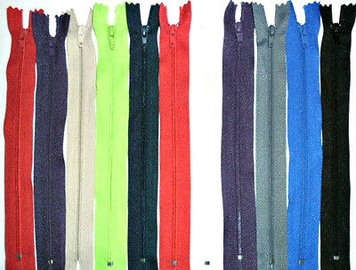 """Zips 8"""" 20Cm Closed End Auto Lock, X6, Various Colours, Free P&P"""