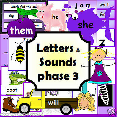 LETTERS AND SOUNDS Phase 3  Primary Teaching resource Phonics Resources KS1 EYFS