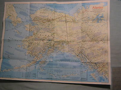 ALASKA MAP THE MAKING OF AMERICA + HISTORY National Geographic January 1984 MINT