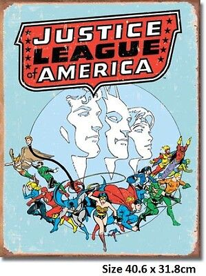 Justice League America  Metal Tin Sign 1641  Large Variety -  Post Discounts