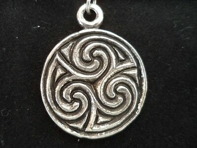 Pictish Spiral Pewter Pendant Celtic Norse