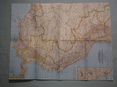 VINTAGE NORTHWESTERN SOUTH AMERICA MAP National Geographic February 1964 MINT