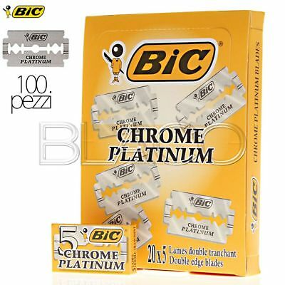 Lame Da Barba Bic Confezione 100Pz Chrome Platinum Alta Qualita'