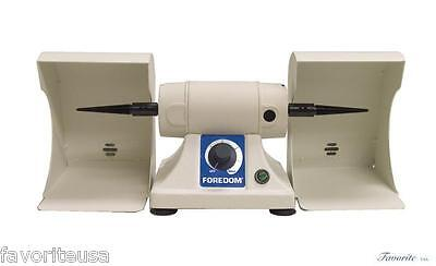 Foredom Bench Lathe With 2 Polishing Hoods 110V For Dental Lab Or Jewelry Shop