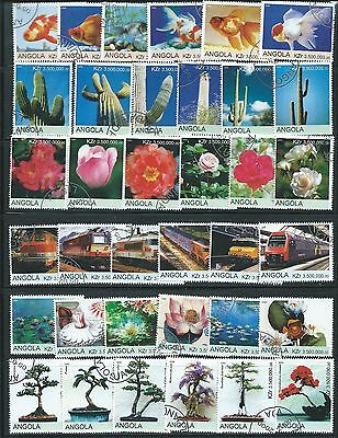 Angola  -  6 Beautiful Sets of Themed Stamps