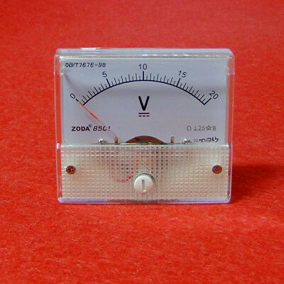 Volt Voltage Voltmeter Panel Meter DC 0-20V s875