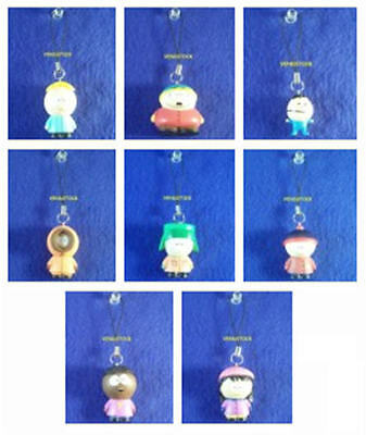 South Park Cell Phone Figure Dangler Charm Ornament Eric Kenny Kyle Stan Wendy