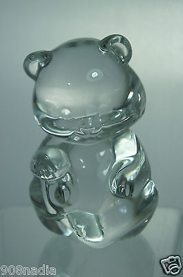 Vintage Clear Glass Bear Figurine/Paperweight