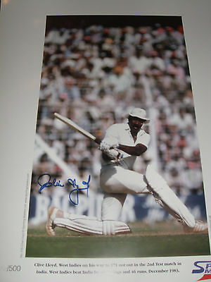 CRICKET LEGEND - CLIVE LLOYD - personally signed 22x16 LIMITED EDITION