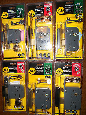 """YALE MORTICE SASHLOCK OR DEAD LOCK,CHROME OR BRASS,2 1/2"""" OR 3"""" 5 LEVER sash new"""
