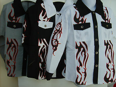Boy's Designer Long Sleeve Party Shirt, Ages:  2 - 12 Years  ( 3 Colours)