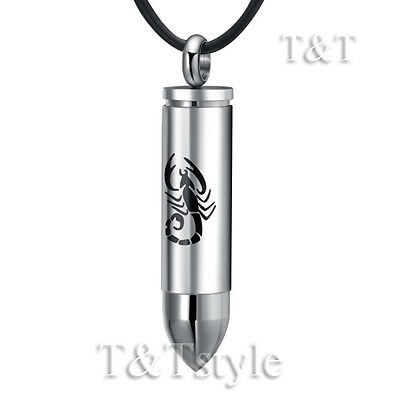 T&T Stainless Steel Scorpion SERCET BULLET Pendant Necklace (NP206)
