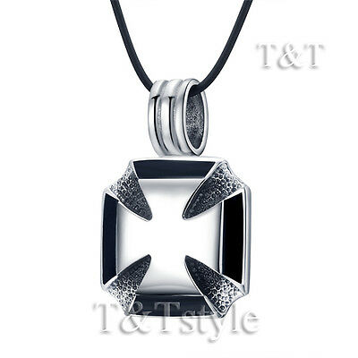 Top Quality T&T 316L Stainless Steel Cross Pendant Necklace (NP205)