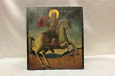 Antique Original Perfect Greek Hand Painted Icon