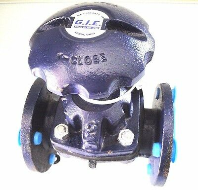 """GIE 2"""" Weir Style Valve -- Poly Lined -- Global Industrial Equipment Inc"""