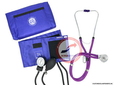 PURPLE 330 Blood Pressure BP Cuff Monitor & Sprague Rappaport Stethoscope Set