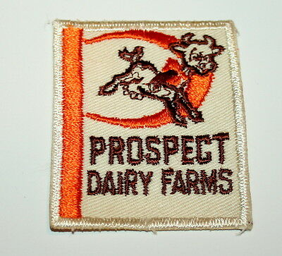 2 Rare Prospect Dairy Farm Products Prospect Park NJ or PA Patch 1960s NOS