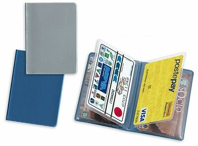 Porta carte di credito card documenti 4 tasche materiale PVC cm 9,4 x 6,7