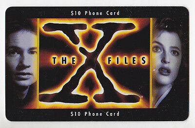 The X Files Prepaid $10 Phone Card Frontier Communications 1996 Muldur & Scully