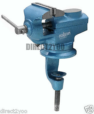 Rolson Table Vice Swivel Base Rotate 360* + Anvil + 60mm Jaw + Work bench Clamp
