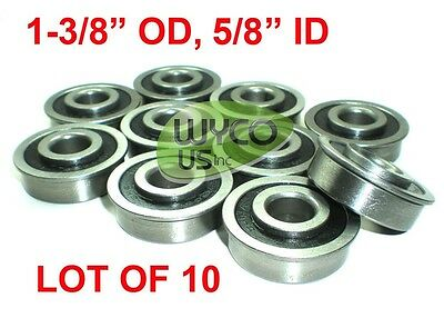 "Wagons Lawnmowers /& More 4 Flanged Wheel Bearings 1-3//8/""OD,3//4/""ID For Go-Karts"