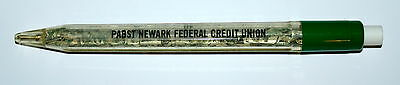 Rare Beer Pabst Brewing Newark Federal Credit Union Clear Plastic Pen 1970-80s