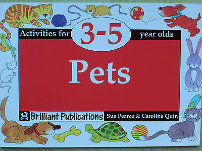 Pets: Activities for 3-5 Year Olds Pre-school Foundation stage teaching resource