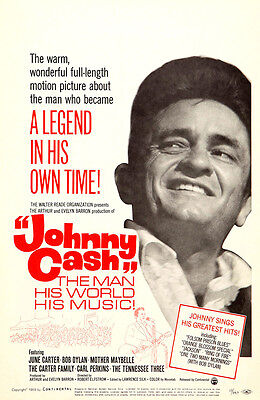"""THE MAN HIS WORLD HIS MUSIC"" .Johnny Cash Classic Movie Poster A1 A2 A3 A4Sizes"