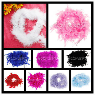 6.6Ft Flapper Showgirl Burlesque Feather Boa 20s Fancy Dress Hens Party Costume