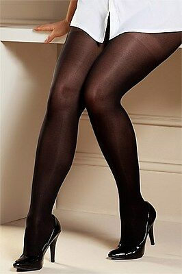 815686366f1 LADIES 1 PAIR Miss Naughty 100 Denier Crotchless Tights - Up to XXXL ...
