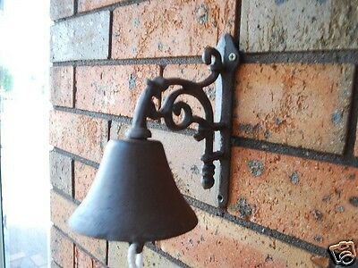 Cast Iron French Style Scroll Flower Bracket  Door Bell 042013