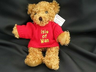 Isle of Man Manx Teddy Bear with embroidered knitted jumper