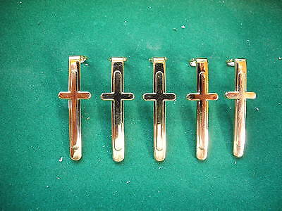 Woodturning 7mm Pen Kits, RELIGIOUS Cross Clip in Gold