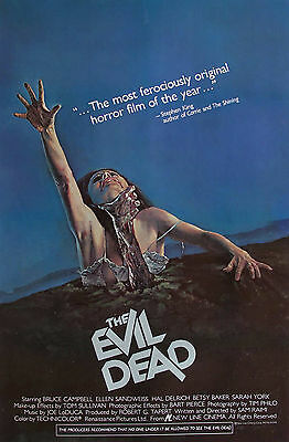 """""""THE EVIL DEAD""""... All Time Classic Horror Movie Poster A1A2A3A4Sizes"""