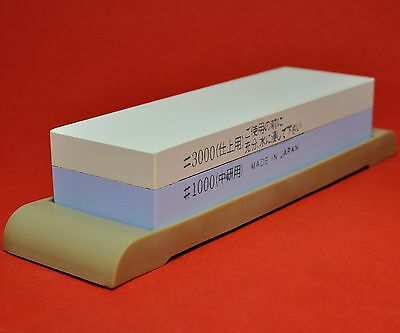 Japan waterstone dual whetstone sharpen duo #1000/3000 pierre aiguiser Japon