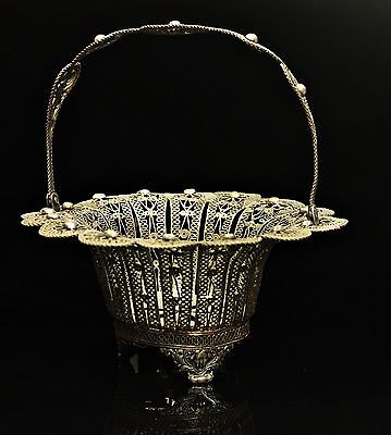 Antique Original Perfect Ottoman Filigree Silver Soap Cup