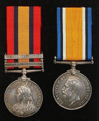 Victorian Queens South Africa Medal 2 Clasps & War Medal