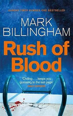 Rush of Blood by Mark Billingham (English) Paperback Book Free Shipping!