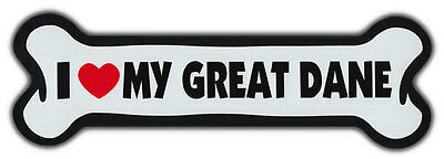 GIANT SIZE!!! Dog Bone Magnet: I Love My Great Dane | Cars, Trucks, More