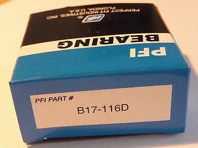 **  1x  PFI - Rillenkugellager B17-116D (-2RS) ..... 17x52x18 mm ......** NEU **