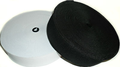 High Quality Woven Elastic, 1 1/2Inch 38Mm Wide, Black Or White & Diff Lengths