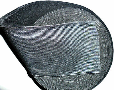 Black High Quality Woven Elastic, 4 Inch 100Mm Wide, Available In Diff Lengths