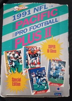 1991 NFL PACIFIC PRO FOOTBALL PLUS II-SPECIAL EDITION-COMPLETE BOX