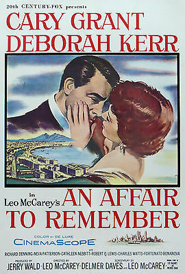 """AFFAIR TO REMEMBER""..Deborah Kerr Cary Grant Vintage Movie Poster A1A2A3A4Sizes"
