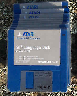 "Atari STE Language Disk DSDD 4 each Disk 3 1/2""/3.5""  New"
