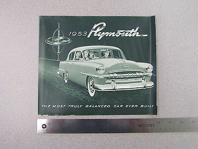 1953 Plymouth Cranbrook & Cambridge Sales Brochure; catalog, ad (S0027)